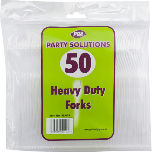 Heavy Duty Plastic Forks Clear 50pcs/30