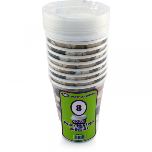 12oz Paper Cups With Lids pc8/48