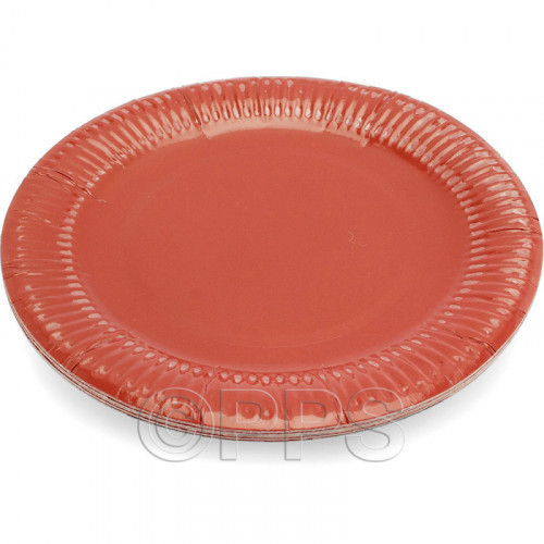 23cm Red Paper Plates 15pc/30