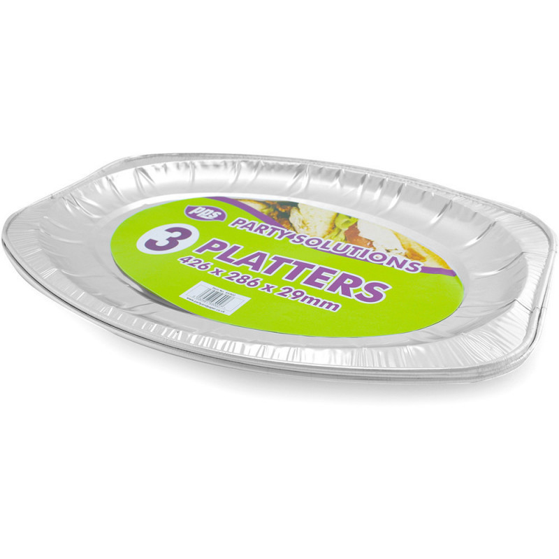 Foil Platters Medium 426x286x29mm 3pcs/25