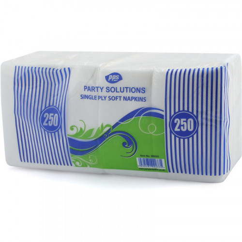 30cm 1ply Napkins White 250pc/24