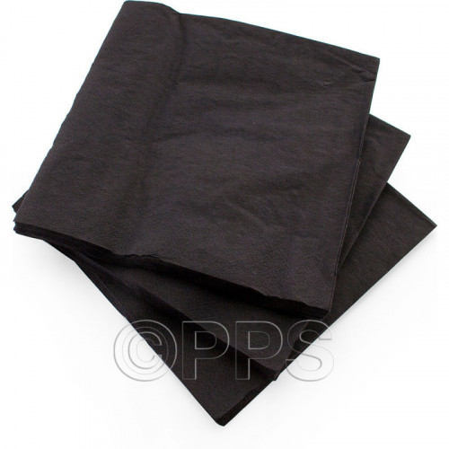 40cm 2ply Napkins Black 30pc/33