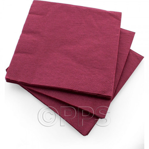 33cm 3ply Napkins Burgundy 20pc/12