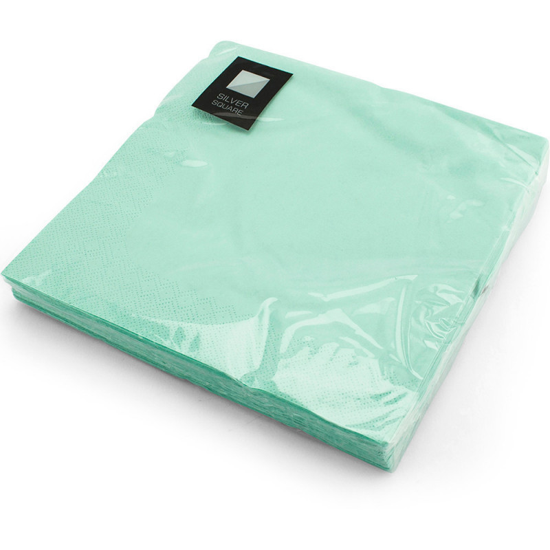 40cm 3ply Napkins Light Green 20pc/12