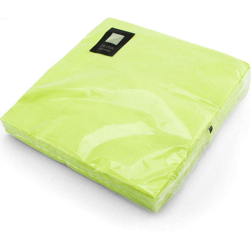 40cm 3ply Napkins Lime 20pc/12