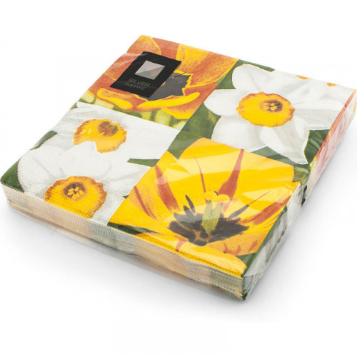 33cm 3ply Napkins Flower 20pc/12
