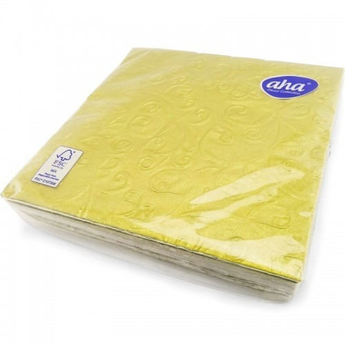 Napkins 3ply Gold Emossed 33cm 20pc/12