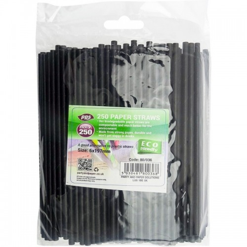 Party Straws Paper 6x197mm 250pc/20