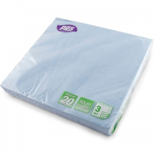 40cm 3ply Napkins Light Blue 20pc/12