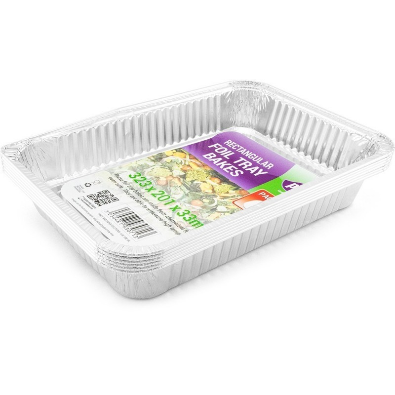 Foil Tray Bake 323x201x33mm 6pc/12