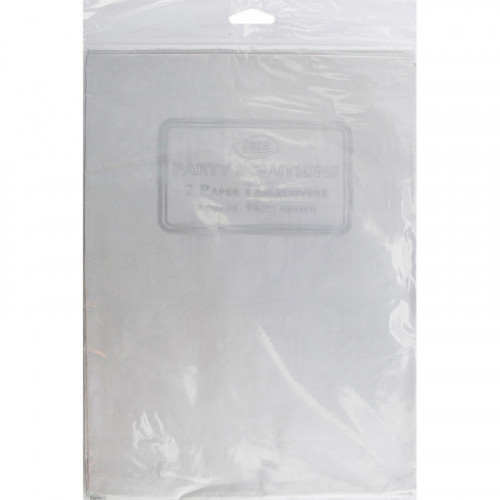Table Covers Paper Silver 90x90cm pc2/48