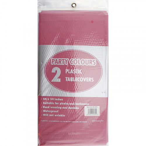 54'' x 54'' Plastic Table Covers Burgundy 2pc/24