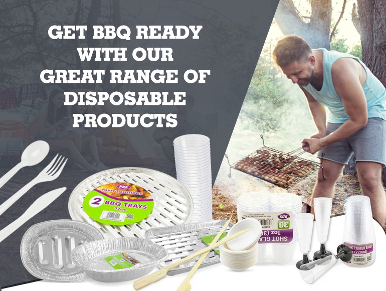 Get BBQ ready with our great range of disposable products