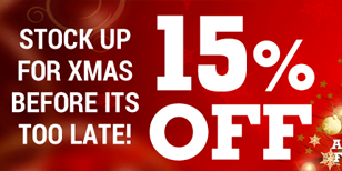 PARTY PRODUCTS SALE - STOCK UP FOR CHRISTMAS! 15% OFF!